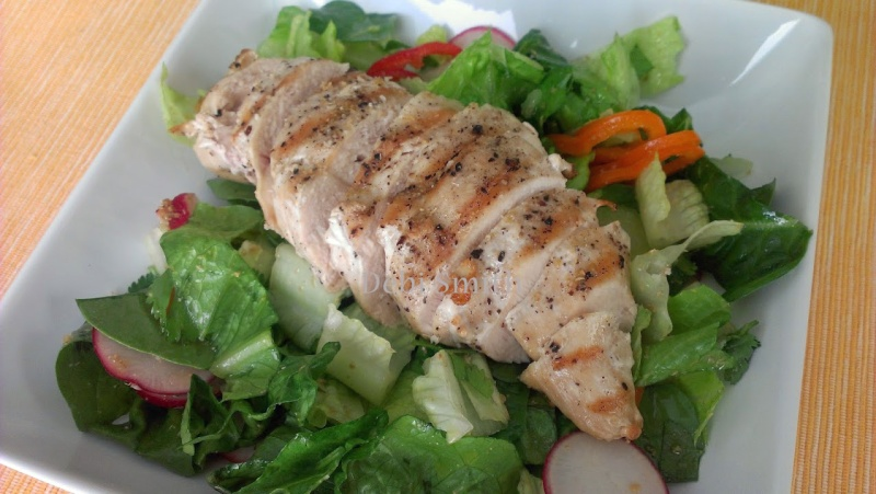 Grilled Chicken Salad with Toasted Coriander Lime Dressing